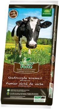 Gedroogde koemest organische meststoffen Humuforte